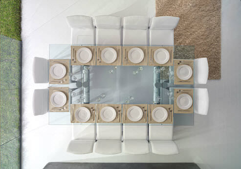 Tavoli In Cristallo Allungabili Reflex.Tavolo Policleto Di Reflex Design Arnaldo Gamba Leila Guerra