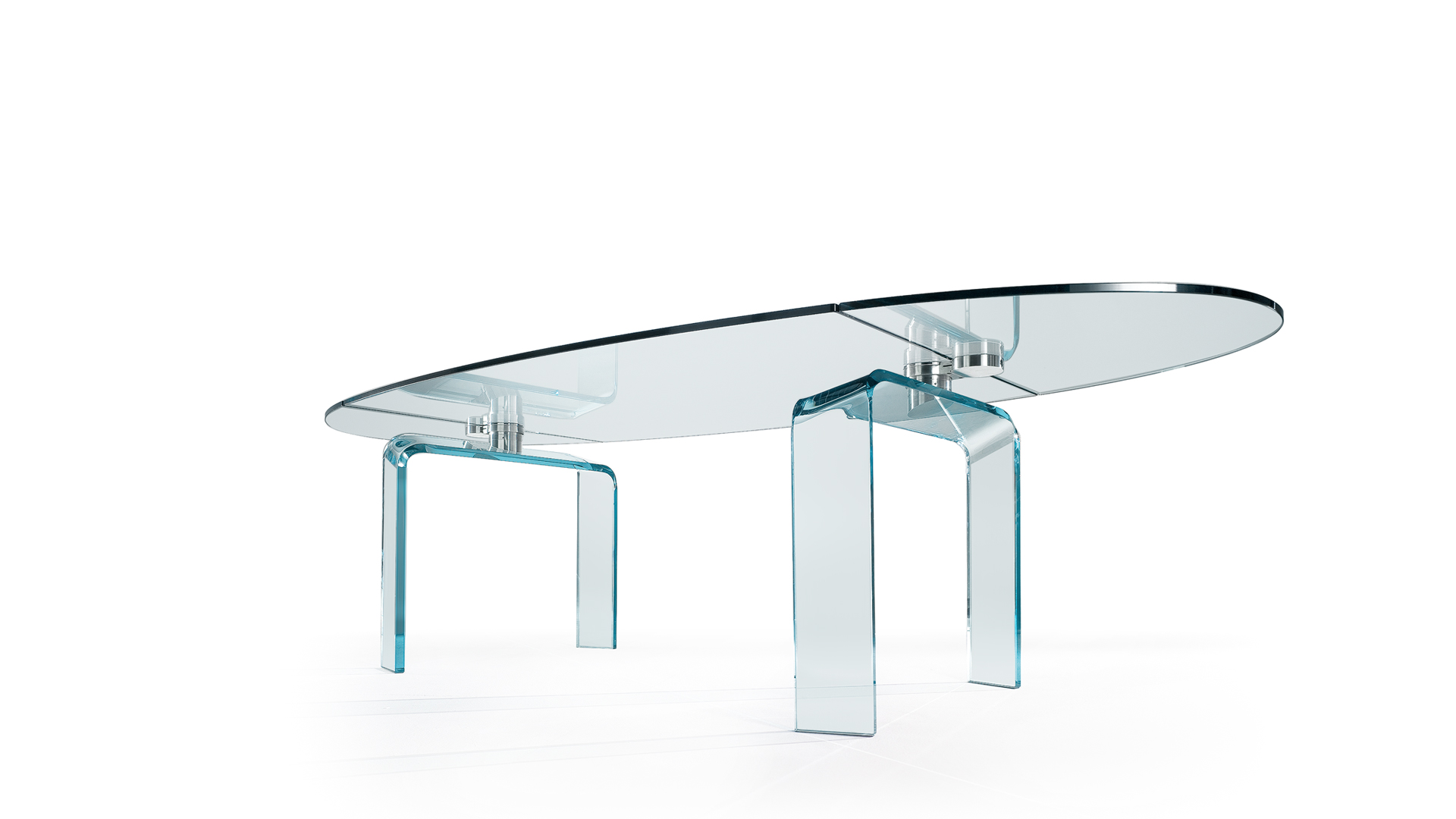 Tavolo policleto di reflex design arnaldo gamba leila guerra arredamento design - Tavolo pranzo cristallo ...