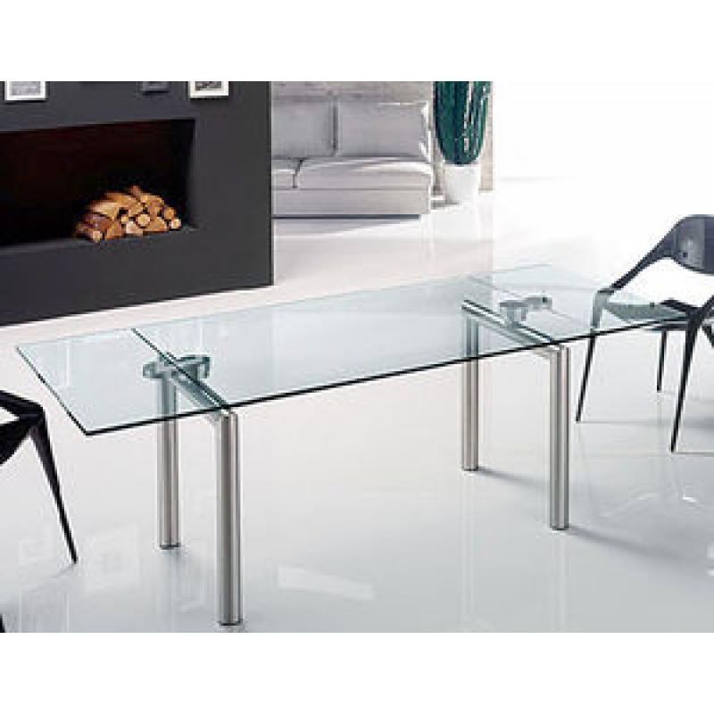 Tavolo ovale cristallo allungabile for Tavoli in cristallo