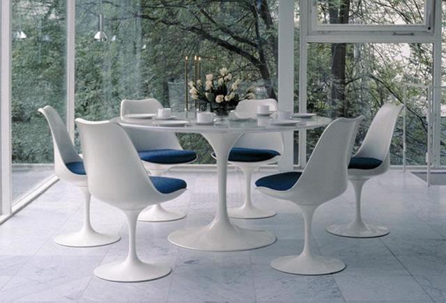 Tavolo e sedie tulip di esedra by prospettive design eero saarinen arredamento design - Tavolo saarinen knoll originale ...