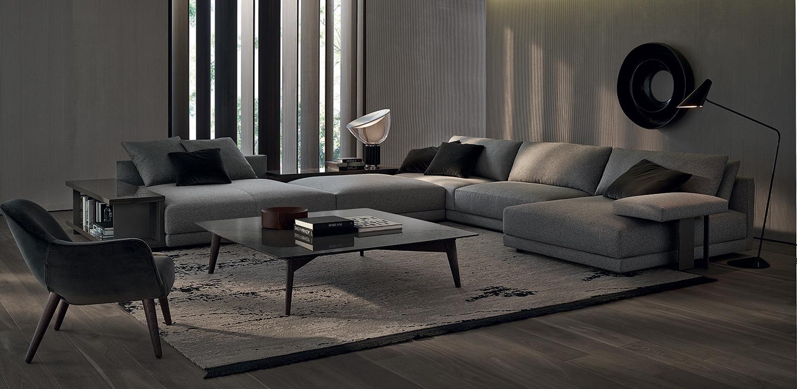 divano bristol di poliform design jean marie massaud arredamento design. Black Bedroom Furniture Sets. Home Design Ideas