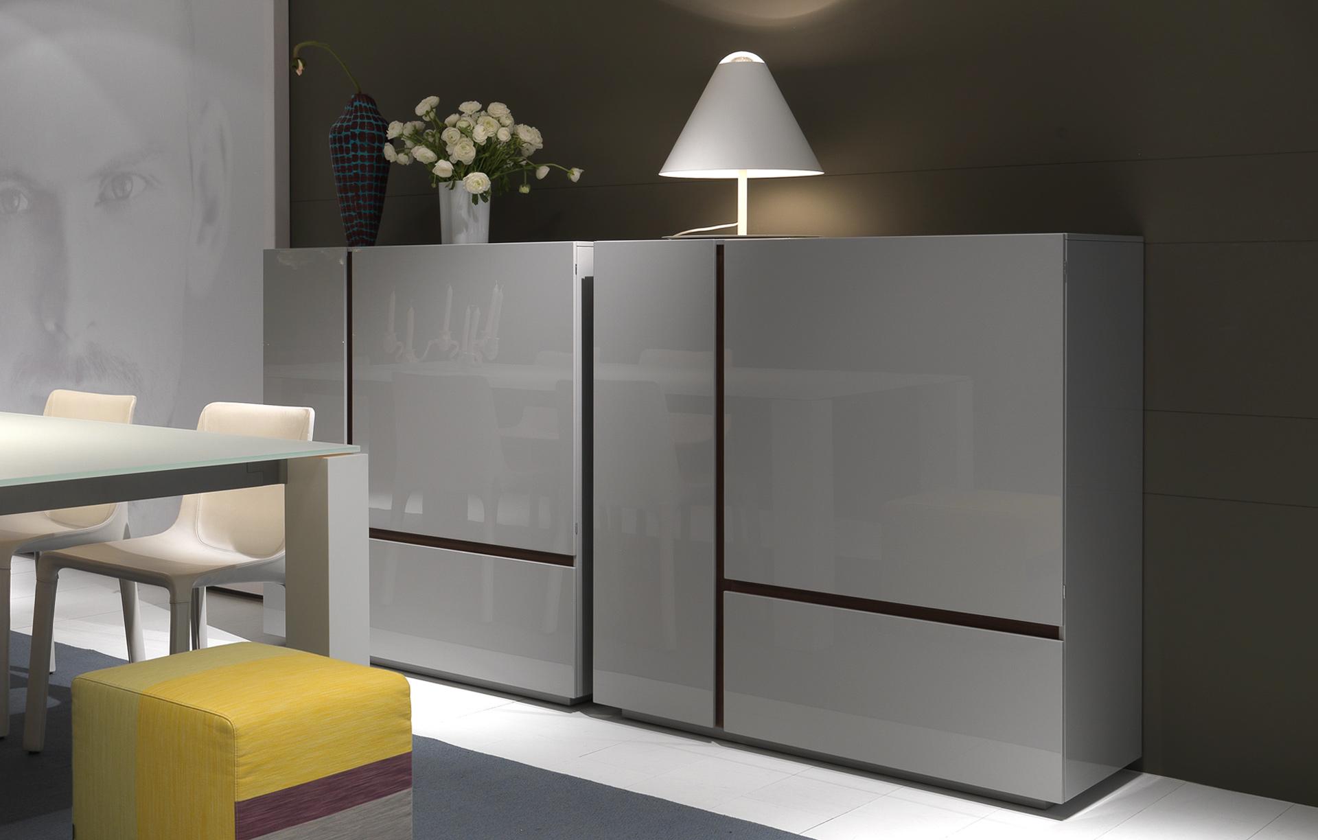 Credenza Moderna Grigia : Madia free poliform design carlo colombo arredamento &