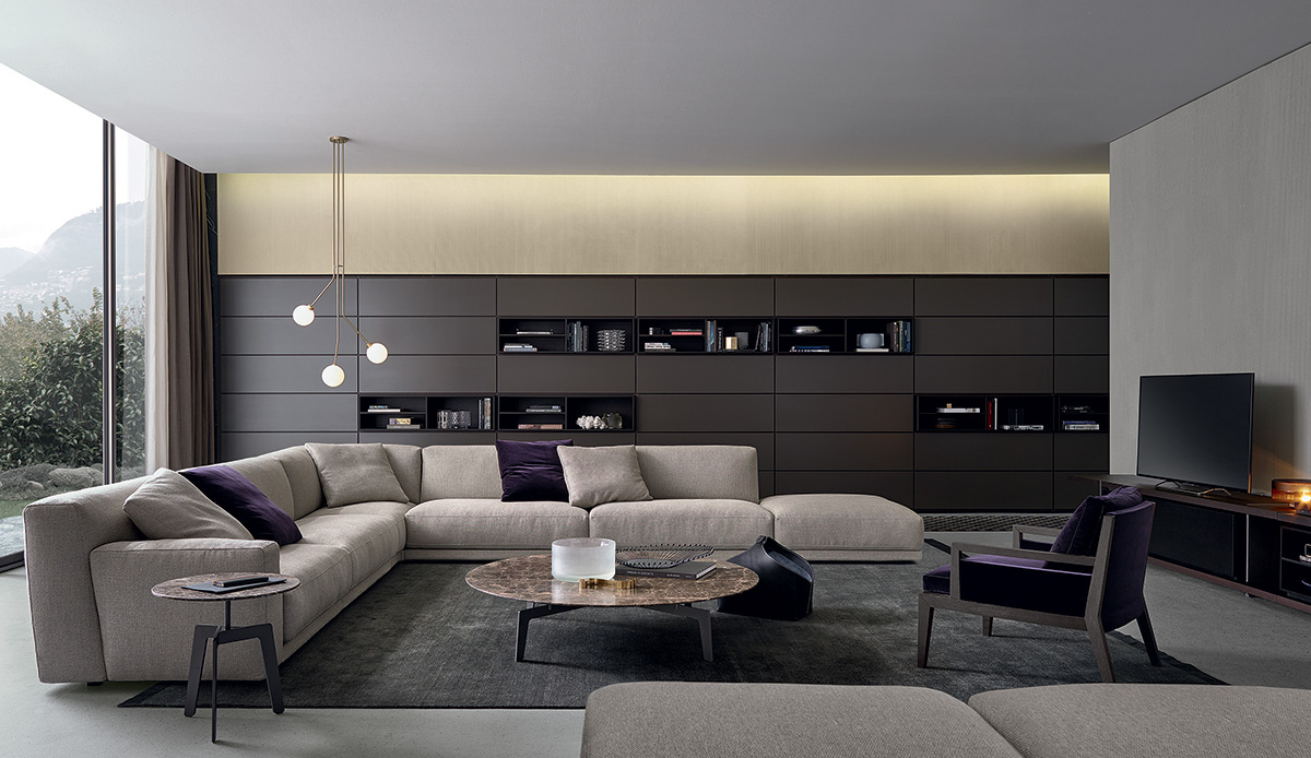 Parete attrezzata Wall System di Poliform Design CR&S Poliform ...