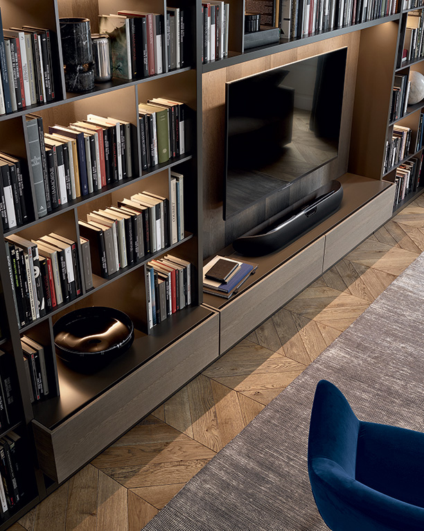 Librerie Componibili Poliform.Parete Attrezzata Wall System Di Poliform Design Cr S Poliform