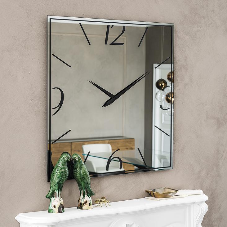Specchio orologio moment di cattelan design a brogliato - Orologio a specchio ...