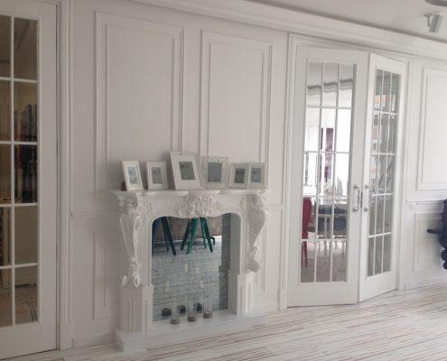 Arredatore interni zona giorno di un appartamento Mosca - zona giorno - Madia modello Axia design Paolo Piva di Poliform