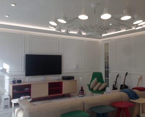 Arredatore interni zona giorno- zona living - Divano Tribeca Design Jean Marie Massaud di Poliform - Poltrona Ventura Lounge Poliform