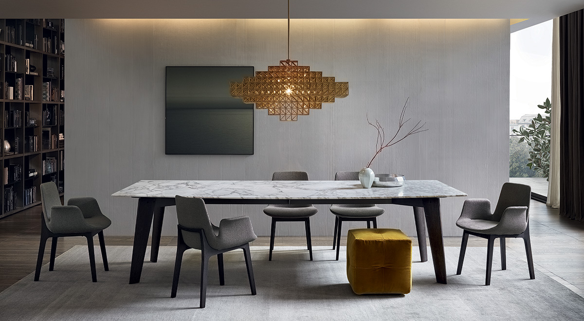 Tavolo howard di poliform design jean marie massaud for Tavolo poliform