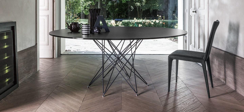 Tavolo octa di bonaldo design bartoli design arredamento for Tavolo rotondo allungabile design moderno