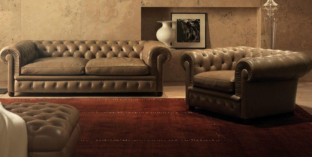 Divano chester di poltrona frau design renzo frau for Poltrona chester