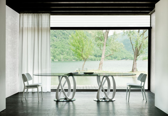 Tavolo Ovale Design : Tavolo infinity di porada design stefano bigi arredamento design