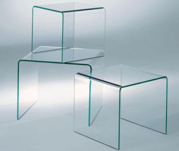 Tavolino rialto tris di fiam design crs fiam arredamento - Tris di tavolini ...
