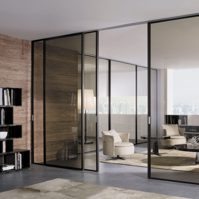 Porta cristal serie 350 di longhi design enrico cattaneo for Longhi arredamenti