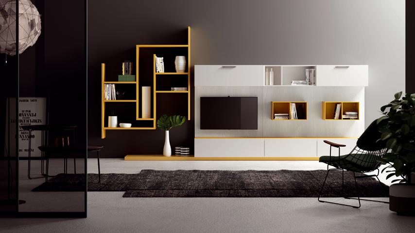 Parete attrezzata mercantinimobili design silvano for Parete attrezzata design moderno