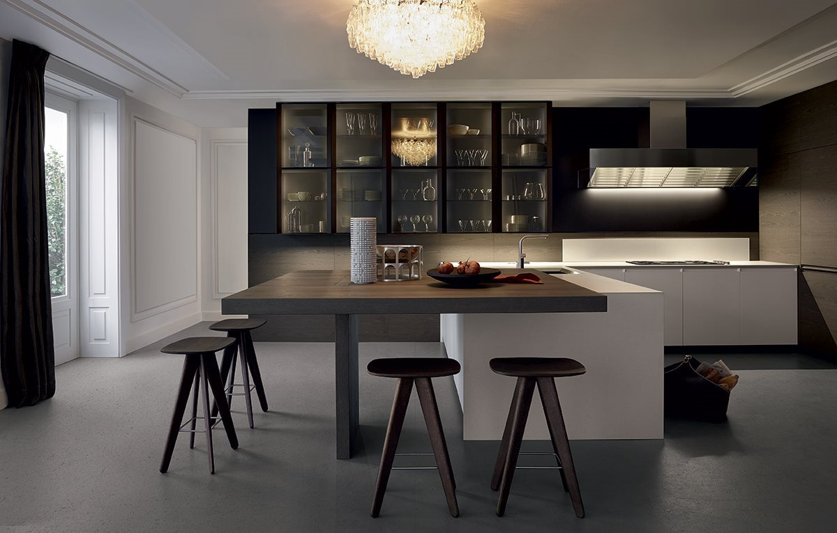 Cucina Trail di Poliform Design Carlo Colombo & R&D Varenna ...