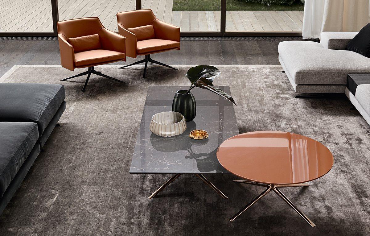 Tavolino Mondrian Di Poliform Design Jean Marie Massaud