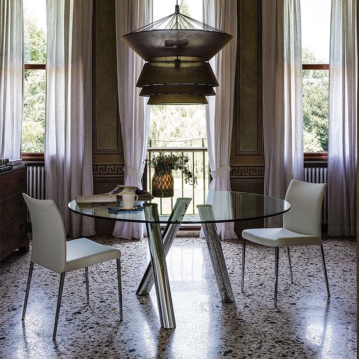Tavolo ray cattelan italia design paolo cattelan - Tavoli in cristallo allungabili cattelan ...