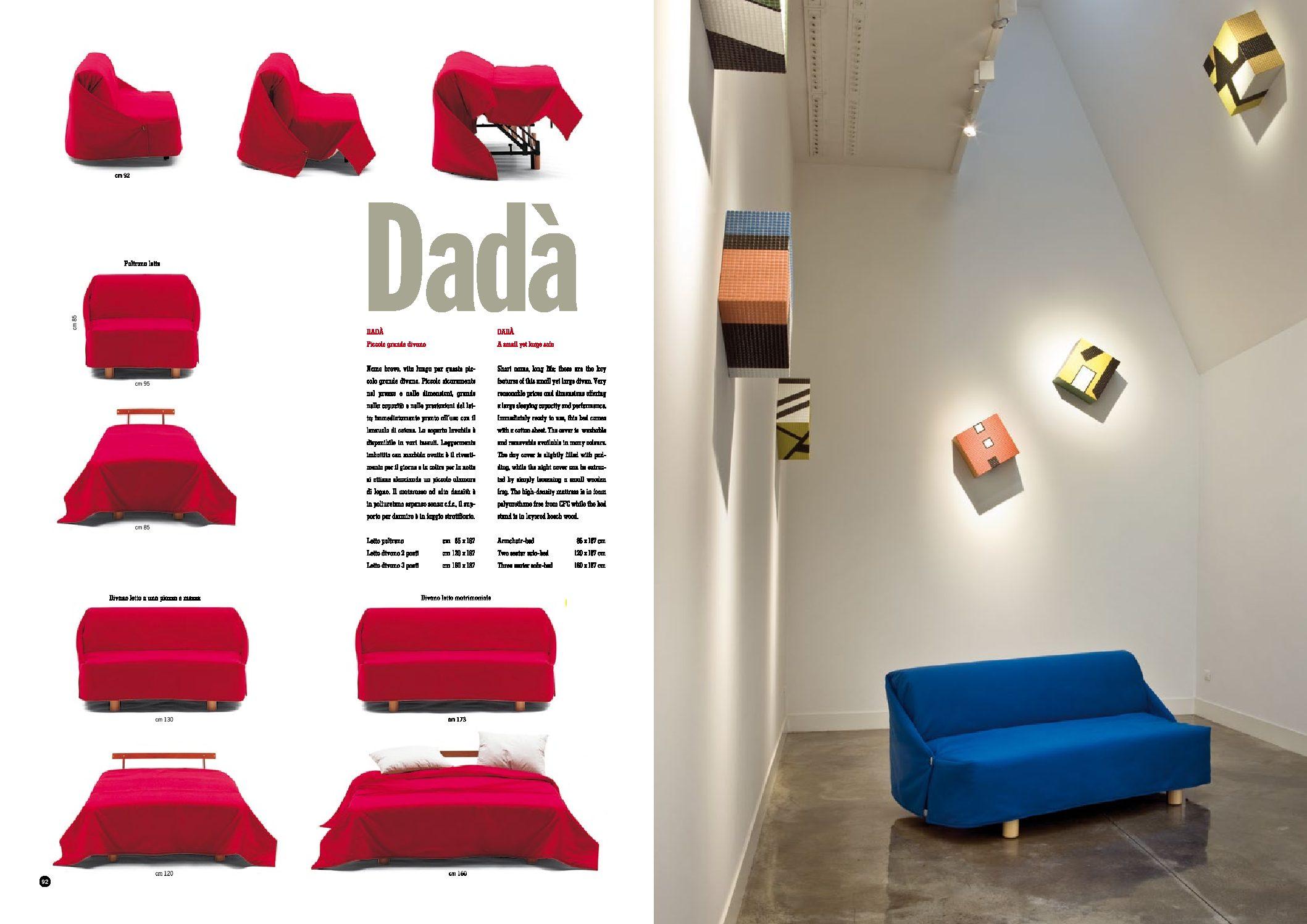 Divano letto Dadà di Campeggi - Arredamento & design