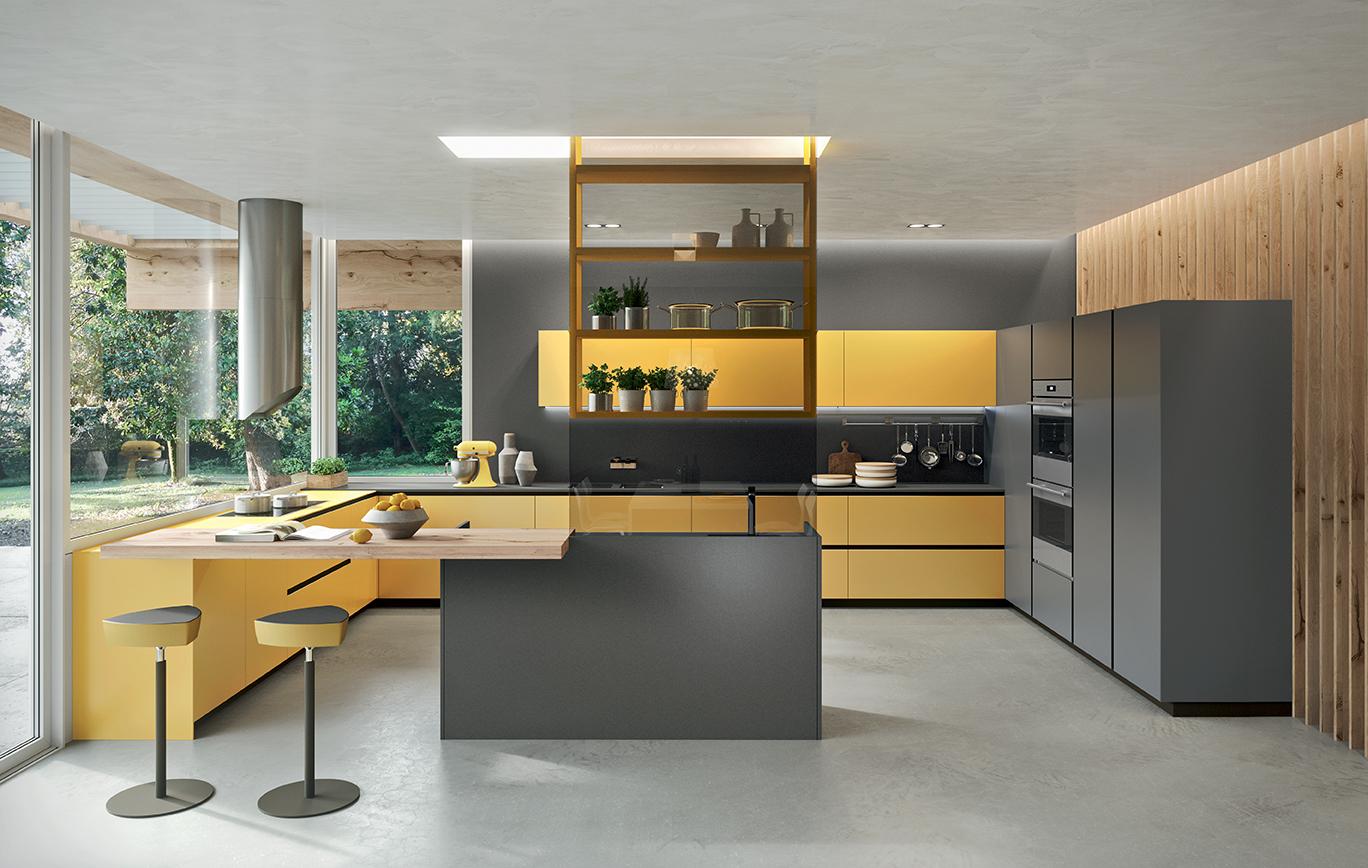 Opinioni Su Arrital Cucine cucina arrital modello ak_04 con ante in vetro satinato