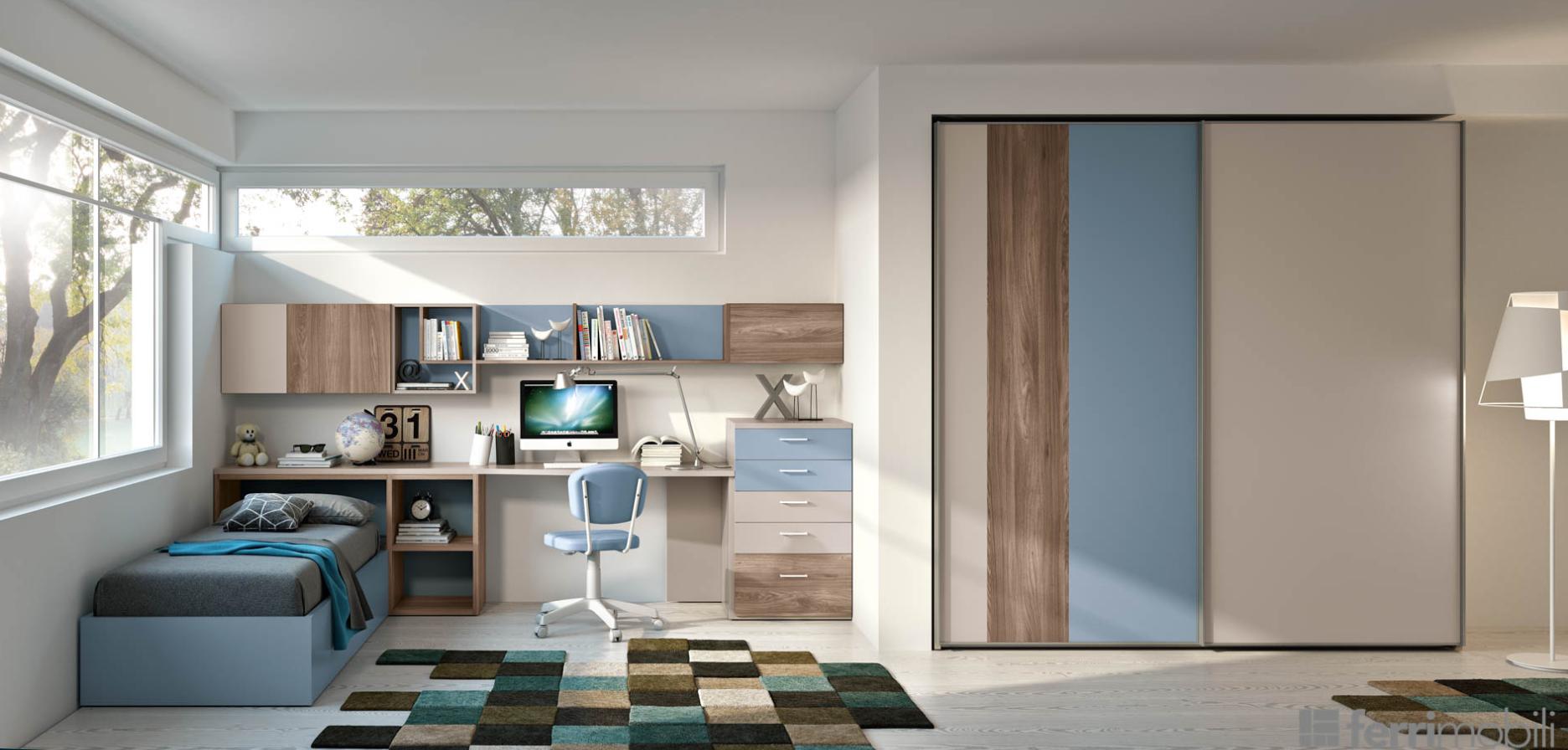 Cameretta ferri mobili composizione 804 arredamento design - Ferri mobili recensioni ...
