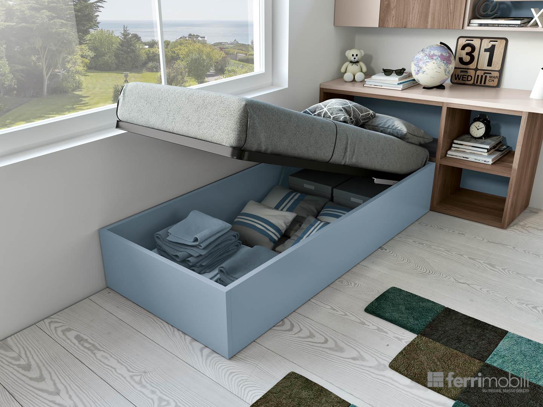 Cameretta ferri mobili composizione 804 arredamento design - Mobili prezioso camerette ...
