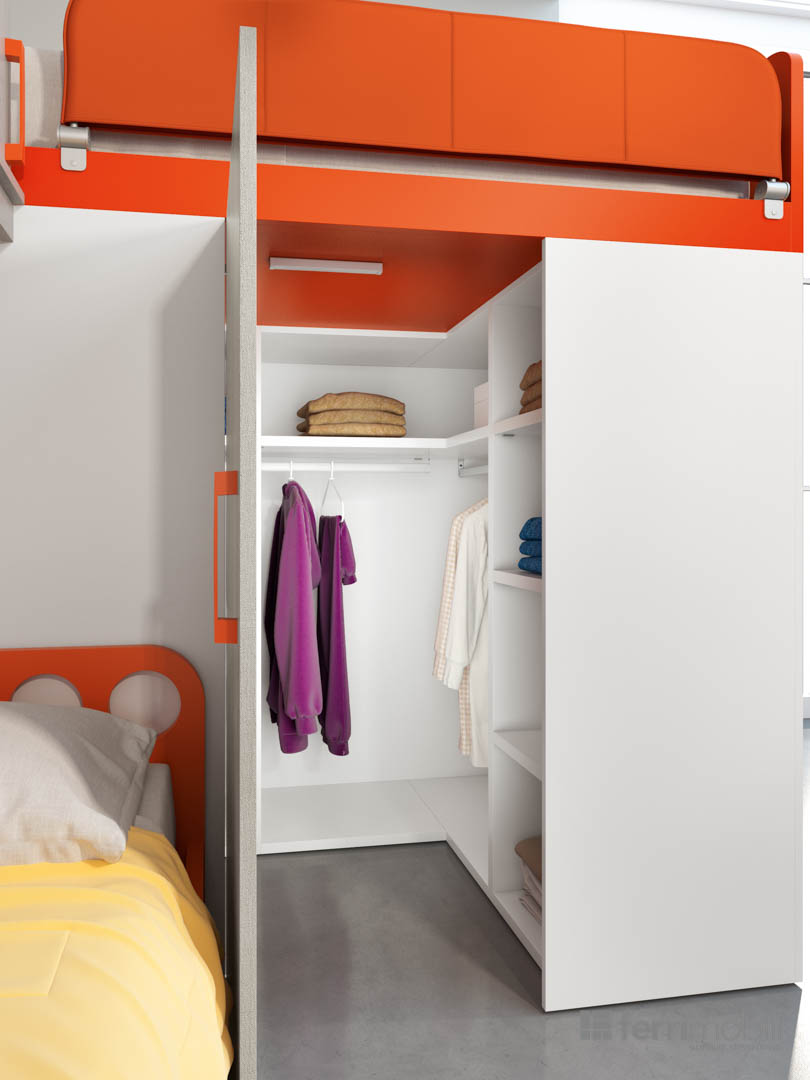 Cameretta ferri mobili composizione 709 arredamento design - Mobili prezioso camerette ...