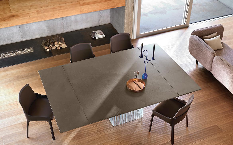 Fiam rime tavolo vetro arredamento design for Bossi arredamenti saronno